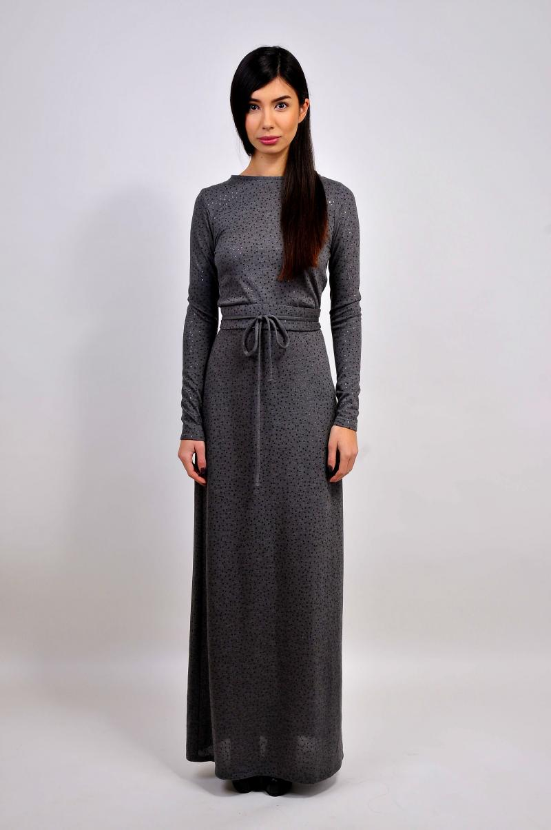 Платье в пол ''Grey Night Dress''